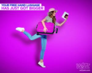 Dobra vest iz Wizz Air-a: Više nema doplate za ručni prtljag