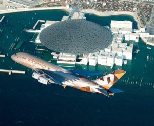 Prelet aviona Etihad Airways-a na otvaranju arapskog Luvra