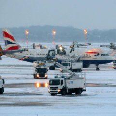 Prvo nevreme ove zime izazvalo haos u avio saobraćaju