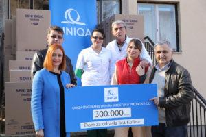 UNIQA osiguranje doniralo 1.500.000 dinara ustanovama širom Srbije