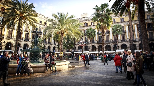 Barselona, skver