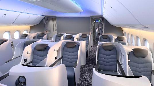 biznis kabina b777x