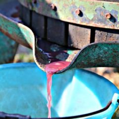 Italijanska fontana iz koje teče vino