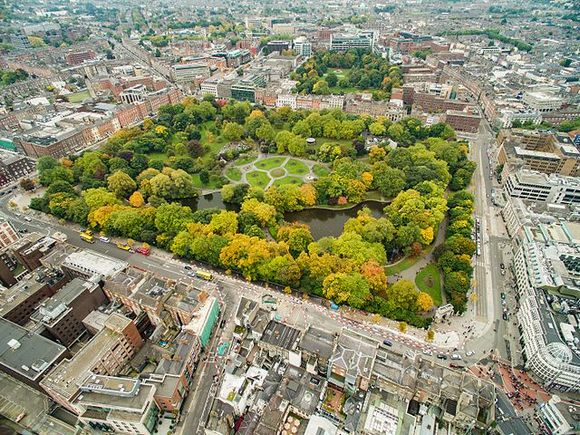 Park svetog Stefana je podjednako popularan među Dablincima i turistima