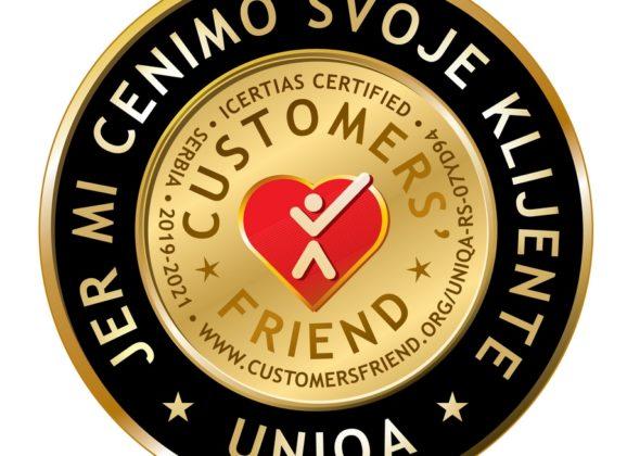 UNIQA osiguranje dobitnik međunarodnog priznanja