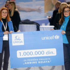 UNIQA osiguranje UNICEF-u doniralo milion dinara