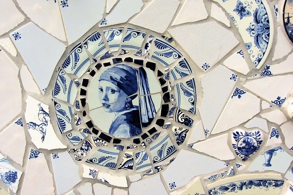 Delph is known for producing delfware, glazed ceramic dishes