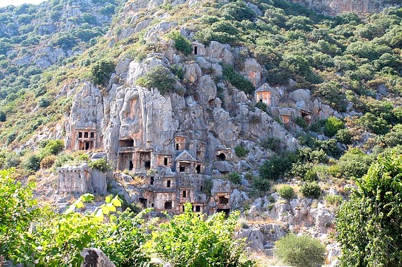 Likijske grobnice nalaze se širom Turske