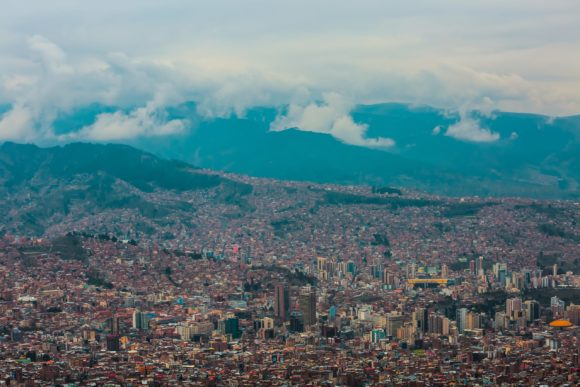La Paz sa Sukreom deli mesto prestonice Bolivije