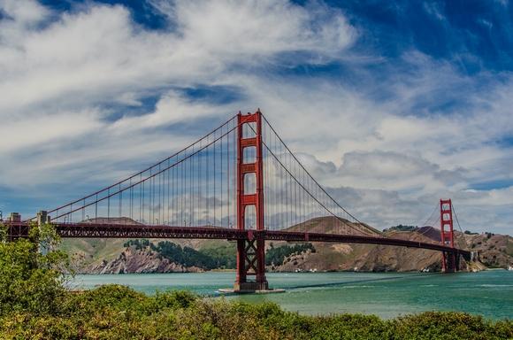 Most Golden Gate je simbol San Franciska