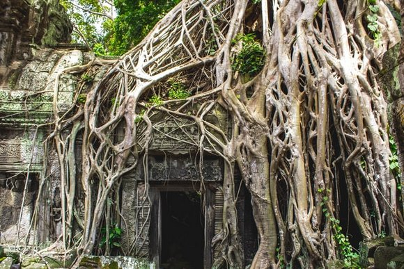 """manastirski kompleks Ta Prom, nalazi se izvan """"kvadrata"""" Angkor Toma"""